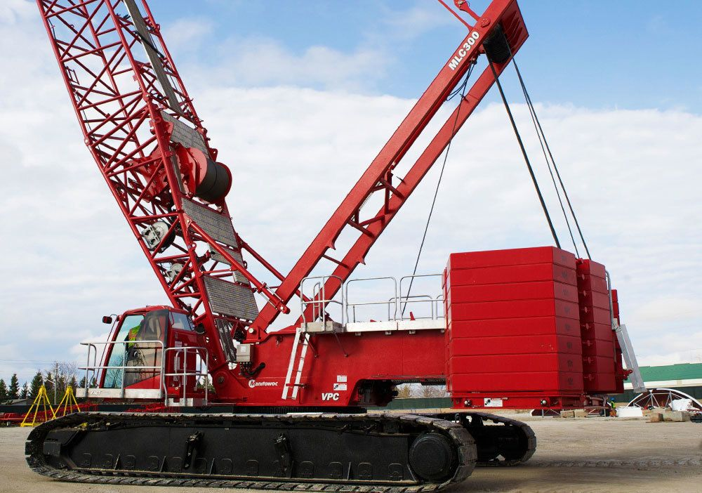 weiss brothers towsley s manitowoc mlc300 lattice boom crawler crane with vpc. Black Bedroom Furniture Sets. Home Design Ideas