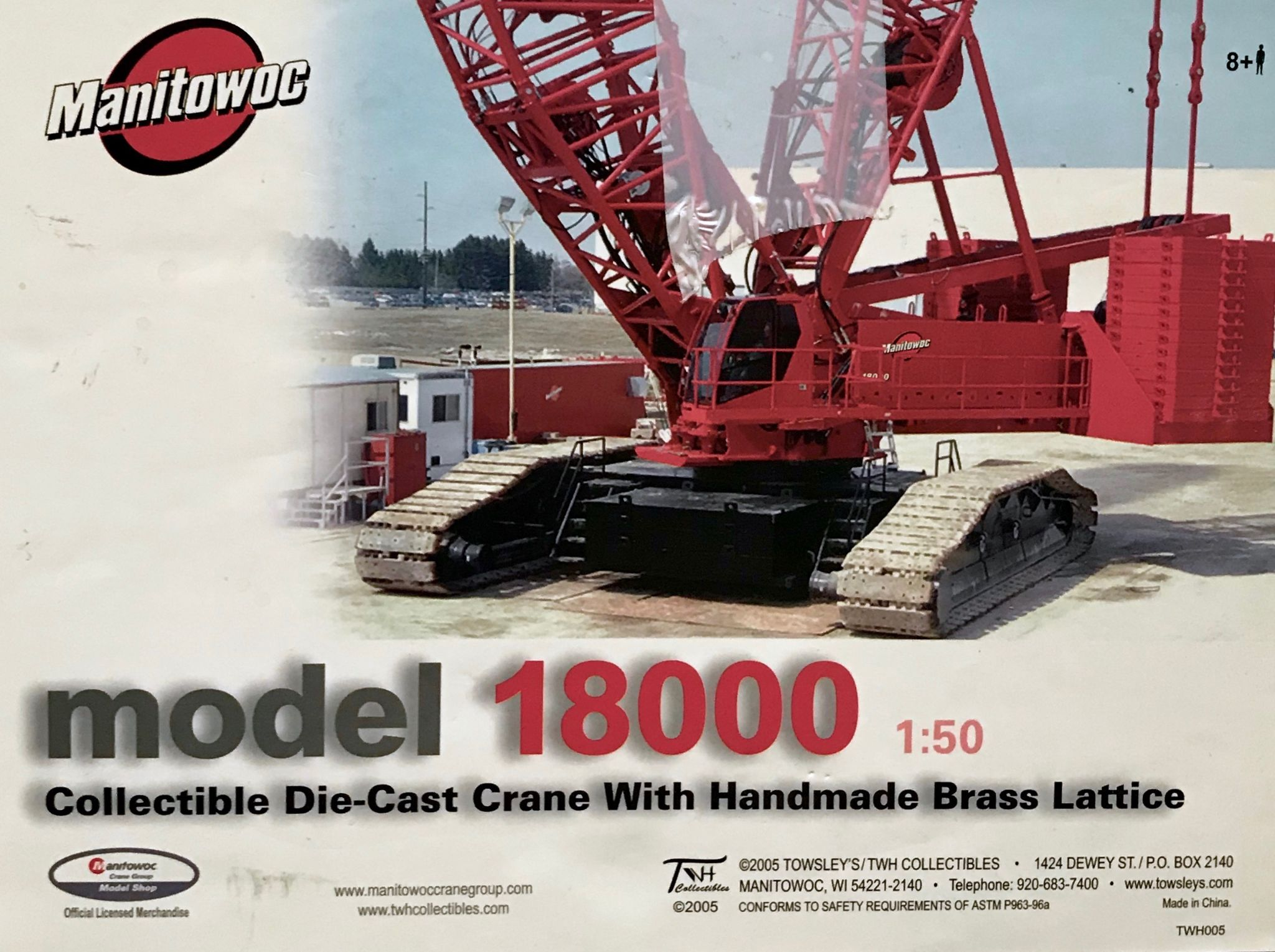 TWH Manitowoc 18000 Crawler Crane Incomplete Pre Owned