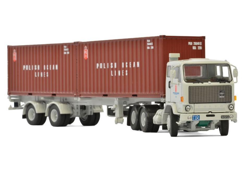 WSI Polish Ocean Lines Volvo F89 Classic Container Trailer